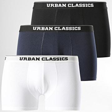 Urban Classics - Lot De 3 Boxers Noir Blanc Bleu Marine
