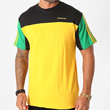 Adidas Originals - Tee Shirt Classics GD2084 Jaune Vert Noir