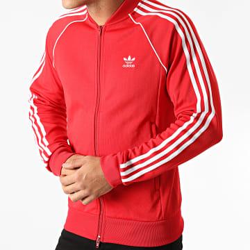 Adidas Originals - Veste Zippée A Bandes Prime Blue SST GF0196 Rouge