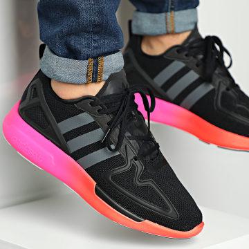 Adidas Originals - Baskets ZX 2K Flux FV9970 Core Black Grey Six Show Pink
