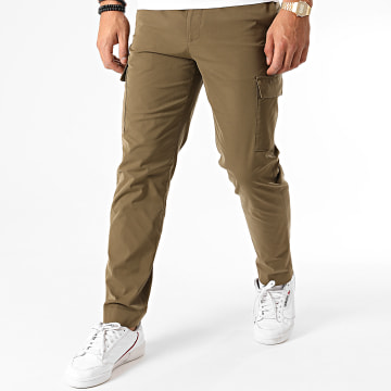 Celio - Pantalon Chino Socrate3 Vert Kaki