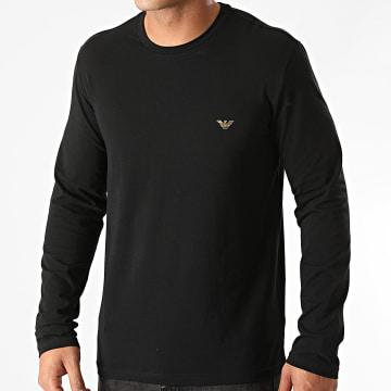 Emporio Armani - Tee Shirt Manches Longues 111653-0A512 Noir Doré