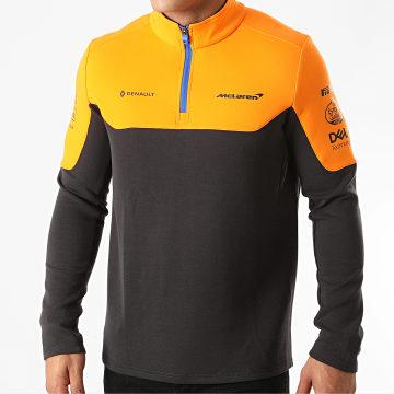 McLaren - Sweat Col Zippé 334801031 Gris Anthracite Orange