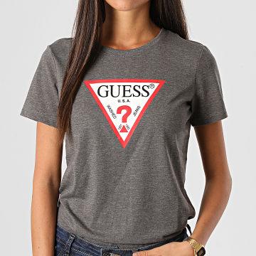 Guess - Tee Shirt Femme W0BI25-I3Z11 Gris Anthracite Chiné