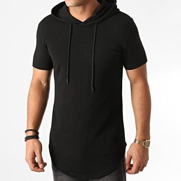 John H - Tee Shirt Capuche Oversize XW03 Noir