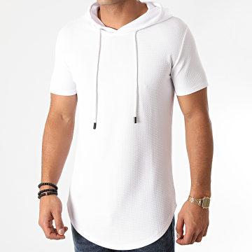 John H - Tee Shirt Capuche Oversize XW09 Blanc