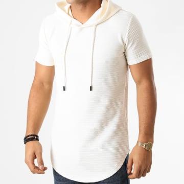 John H - Tee Shirt Capuche Oversize XW01 Ecru