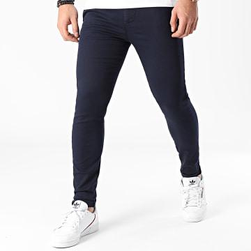 LBO - Pantalon Chino Skinny 1354 Bleu Marine