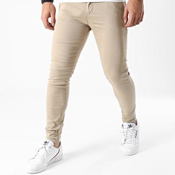LBO - Pantalon Chino Skinny 1355 Beige