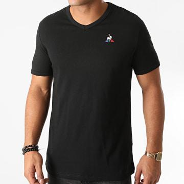 Le Coq Sportif - Tee Shirt Col V Essentiel N2 1922036 Noir