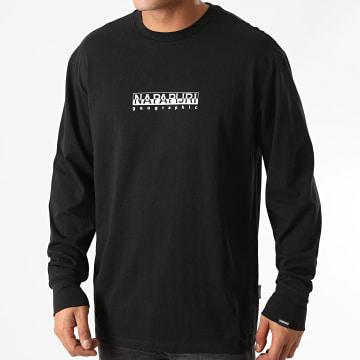 Napapijri - Tee Shirt Manches Longues Box Noir