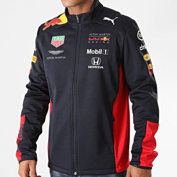 Red Bull Racing - Veste Zippée Aston Martin Red Bull Racing Team Bleu Marine Rouge