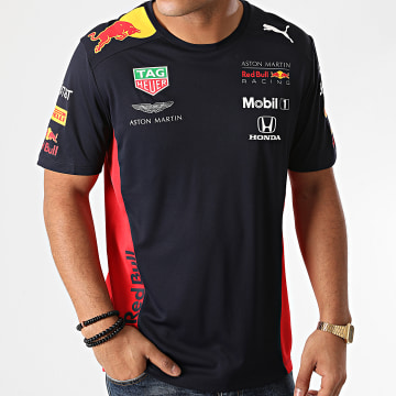 Red Bull Racing - Tee Shirt De Sport Aston Martin Red Bull Racing Team Bleu Marine Rouge