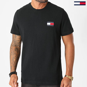 Tommy Jeans - Tee Shirt Tommy Badge 6595 Noir