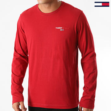 Tommy Jeans - Tee Shirt Manches Longues Corp 9402 Bordeaux