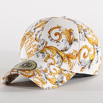 Versace Jeans Couture - Casquette E8YZAK12-85073 Blanc Jaune Renaissance Floral