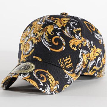 Versace Jeans Couture - Casquette E8YZAK12-85073 Noir Jaune Renaissance Floral