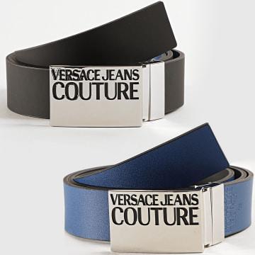 Versace Jeans Couture - Ceinture Réversible Linea Cinture D8YZAF32 Noir Bleu Roi