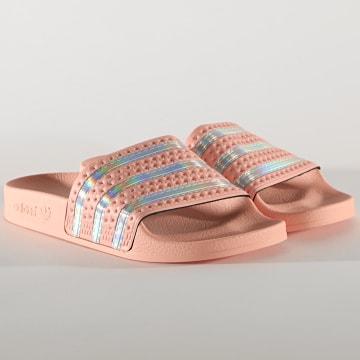 Adidas Originals - Claquettes Femme Adilette FW2290 Pink Iridescent