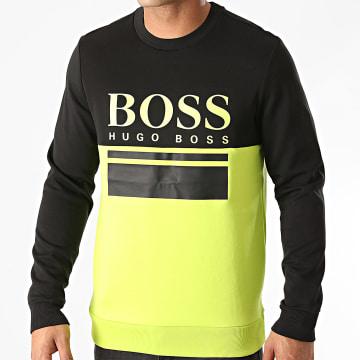 BOSS - Sweat Crewneck Salbo 1 50434921 Vert Fluo Noir