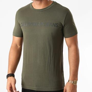 Calvin Klein - Tee Shirt Institutional Logo 7856 Vert Kaki