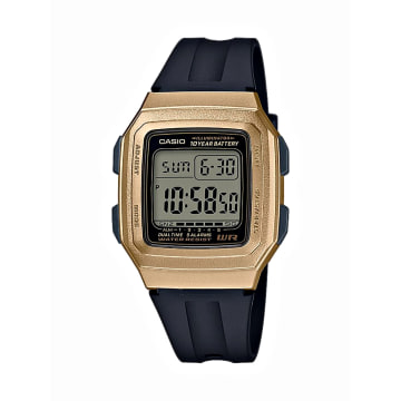 Casio - Montre Femme Collection F-201WAM-9AVEF Noir Doré