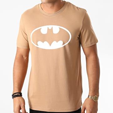 DC Comics - Tee Shirt Batman Logo Camel