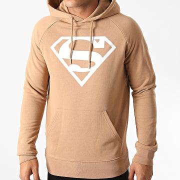DC Comics - Sweat Capuche Superman Logo Camel