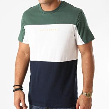 Jack And Jones - Tee Shirt Pro Bleu Marine Blanc Vert