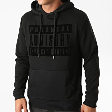 Parental Advisory - Sweat Capuche Logo Velvet Noir Noir