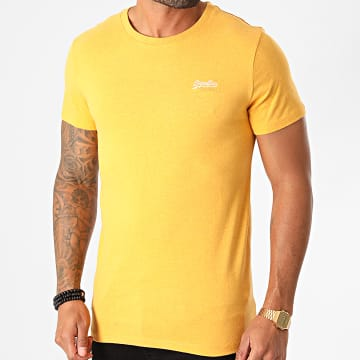 Superdry - Tee Shirt OL Vintage Embroidered M1010222A Jaune Chiné