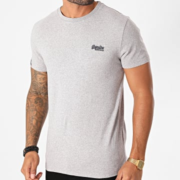 Superdry - Tee Shirt OL Vintage Embroidered M1010222A Gris Chiné