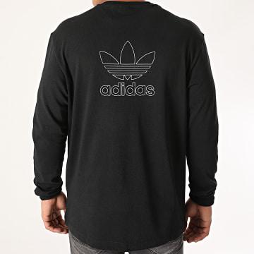 Adidas Originals - Tee Shirt Manches Longues Back + Front Trefoil GE0859 Noir