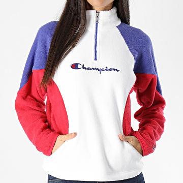 Champion - Sweat Col Zippé Femme 113347 Blanc