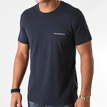 Emporio Armani - Tee Shirt A Bandes 110853-0A510 Bleu Marine