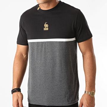 FFF - Tee Shirt F20032 Gris Anthracite Chiné Noir