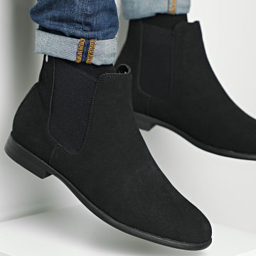 Jack And Jones - Chelsea Boots Mitchell Synth Suede 12175939 Anthracite