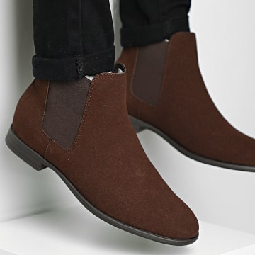 Jack And Jones - Chelsea Boots Mitchell Synth Suede 12175939 Java