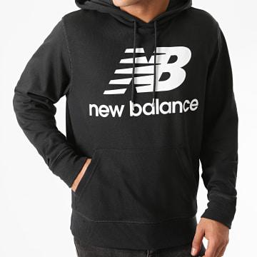 New Balance - Sweat Capuche Essential Stacked Logo MT03558 Noir