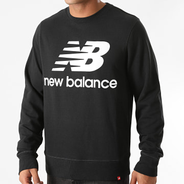 New Balance - Sweat Crewneck Essential Stacked Logo MT03560 Noir