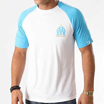 OM - Tee Shirt M20006C Blanc Bleu Clair