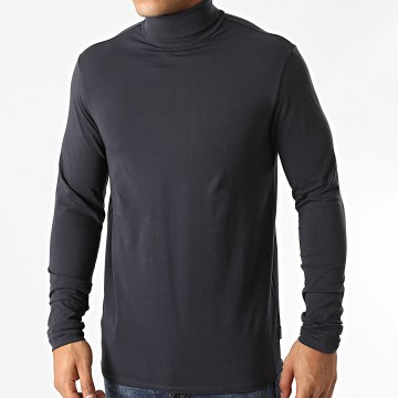 Only And Sons - Tee Shirt Col Roulé Manches Longues Lasse Bleu Marine
