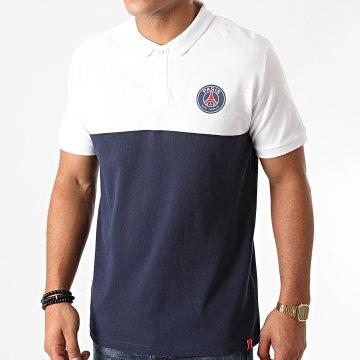 PSG - Polo Manches Courtes P13636 Blanc Bleu Marine