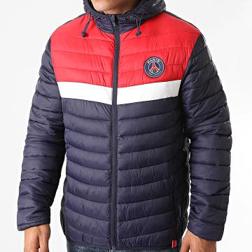 PSG - Doudoune Tricolore P13646 Bleu Marine Rouge Blanc
