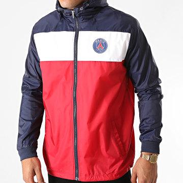 PSG - Coupe-Vent Tricolore P13644 Rouge Bleu Marine Blanc