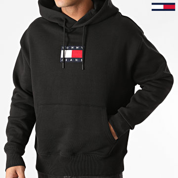 Tommy Jeans - Sweat Capuche Small Flag Hoodie 8726 Noir