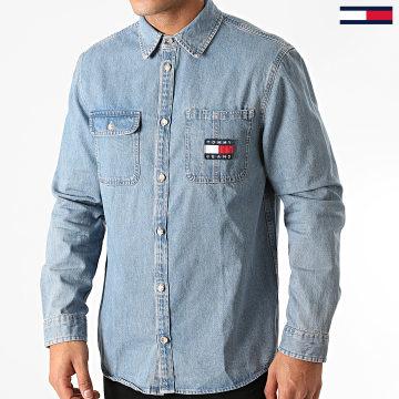 Tommy Jeans - Chemise Jean Manches Longues Badge 8784 Bleu Denim