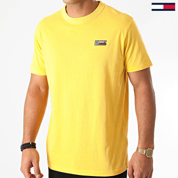 Tommy Jeans - Tee Shirt Washed Logo 8450 Jaune