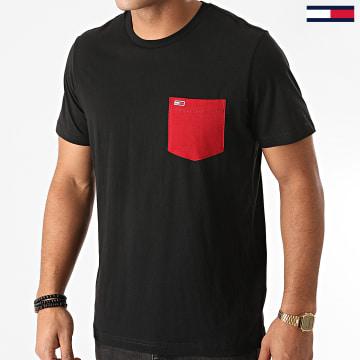 Tommy Jeans - Tee Shirt Poche Contrast Pocket 9370 Noir