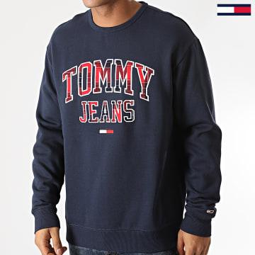 Tommy Jeans - Sweat Crewneck Plaid Tommy Graphic 9429 Bleu Marine